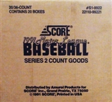 1991 Score Series 2 Baseball Wax Case