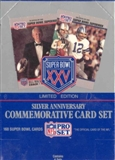 1991 Pro Set Super Bowl XXV Silver Anniversary Football Box
