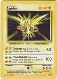 Pokemon Base Set 1 Single Zapdos 16/102 - LIGHT PLAY