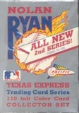 1992 Pacific Nolan Ryan 2nd Series Baseball Hobby Box