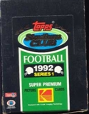 1992 Topps Stadium Club Series 1 Football Hobby Box