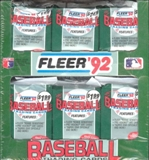 1992 Fleer Baseball Jumbo Box