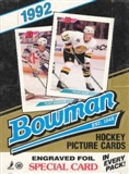 1992/93 Bowman Hockey Wax Box