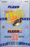 1992/93 Fleer Ultra Series 2 Hockey Hobby Box