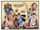 1992 Upper Deck Utah Jazz Stay In School Commemorative Sheet Lot of 10
