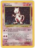 Pokemon Base Set 1 Single Mewtwo 10/102 - SLIGHT PLAY