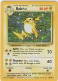 Pokemon Base Set 1 Single Raichu 14/102