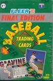 1993 Fleer Final Edition Baseball Factory Set