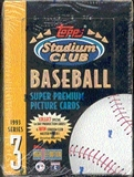 1993 Topps Stadium Club Series 3 Baseball Hobby Box