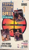 1993/94 Topps Stadium Club Series 1 Basketball Hobby Box
