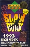 1993 Upper Deck Slam Dunk High Series Basketball Jumbo Box