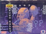 1993 Upper Deck Football Jumbo Box