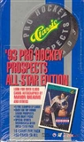 1993/94 Classic Pro All-Star Edition Hockey Hobby Box