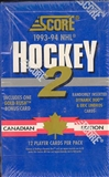 1993/94 Score Canadian Series 2 Hockey Hobby Box