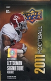2011 Upper Deck Football Hobby Box