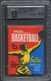 1971/72 Topps Basketball Wax Pack GAI 8.5 (NM-MT+)