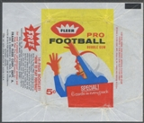 1962 Fleer Football Wrapper