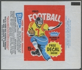 1960 Fleer Football Wrapper