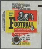 1959 Topps Football Wrapper (1 cent)