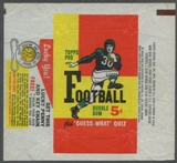 1959 Topps Football Wrapper (5 cents)