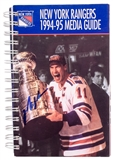 Mark Messier Autographed New York Rangers 1994-1995 Official Media Guide (Steiner)