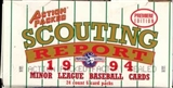 1994 Action Packed Scouting Report Baseball Hobby Box