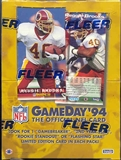 1994 Fleer Game Day Football Hobby Box