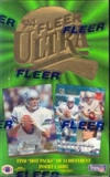 1994 Fleer Ultra Series 1 Football Hobby Box