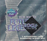 1995/96 Collector's Edge Ice Future Legends Hockey Wax Box