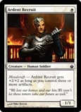 Magic the Gathering Mirrodin Besieged Single Ardent Recruit FOIL