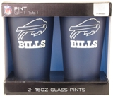 16 Oz NFL / Buffalo Bills 2 pack COLOR FROST Pint Gift Set (Boelter)