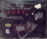 1995/96 Upper Deck Be A Player Signature Collection Hockey Hobby Box