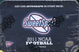 2011 Upper Deck Sweet Spot Football Hobby Pack