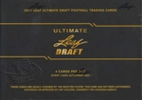 2011 Leaf Ultimate Draft Football Hobby Box