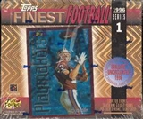 1996 Topps Finest Series 1 Football 20 Pack Box