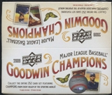2009 Upper Deck Goodwin Champions Baseball Retail Box
