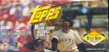 1997 Topps Series 1 Baseball Jumbo Box