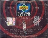 1997/98 Upper Deck Diamond Vision Basketball Hobby Box