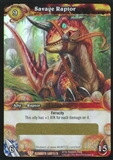 WoW War of the Elements Single Savage Raptor Loot Card