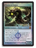 Magic the Gathering Scars of Mirrodin Single Wurmcoil Engine Foil (Prerelease) - SLIGHT PLAY (SP)
