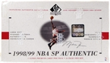 1998/99 Upper Deck SP Authentic Basketball Hobby Box