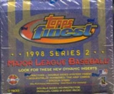 1998 Topps Finest Series 2 Baseball Jumbo Box