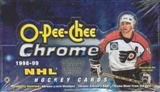 1998/99 O-Pee-Chee Chrome Hockey Wax Box