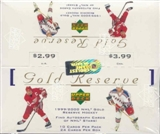 1999/00 Upper Deck Gold Reserve Series 1 Hockey Box