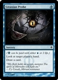 Magic the Gathering New Phyrexia Single Gitaxian Probe FOIL