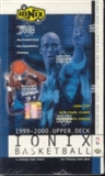 1999/00 Upper Deck Ionix Basketball Hobby Box