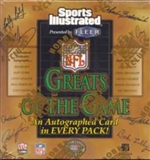 1999 Fleer Greats of the Game Football Hobby Box