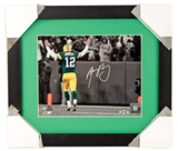 Aaron Rodgers Autographed Green Bay Packers Framed 8x10 Photo (Steiner)