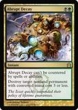Magic the Gathering Return to Ravnica Single Abrupt Decay Foil