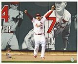 Allen Craig Autographed St Louis Cardinals Celebration 16x20 Photo w/WS Champs Inscrip (Leaf)